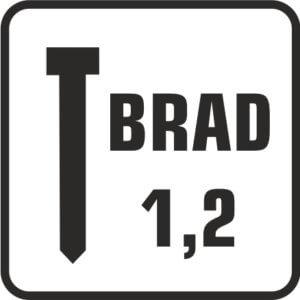 brad 1,2 con cabeza acero galvanizado