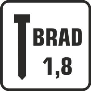 brad 1,8 con cabeza acero negro